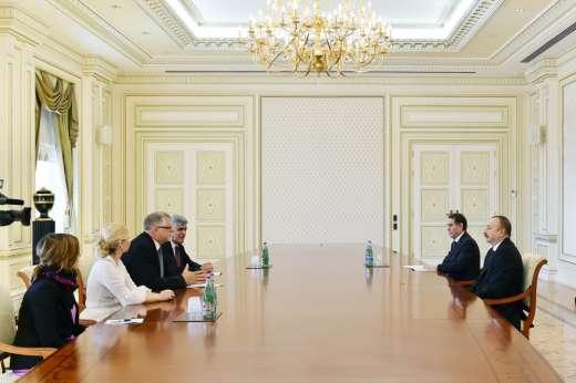Avropa İttifaqının xüsusi nümayəndəsi İlham Əliyevin qəbulunda