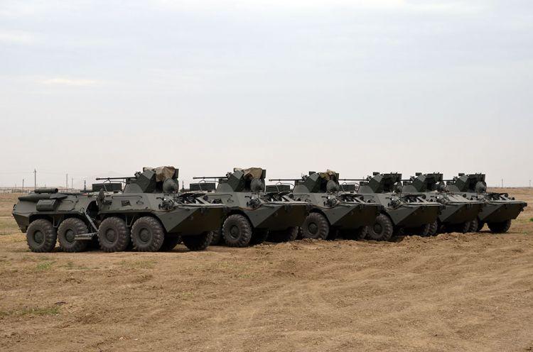 Rusiyadan alınan hərbi texnika silahlanmaya daxil edildi - VİDEO