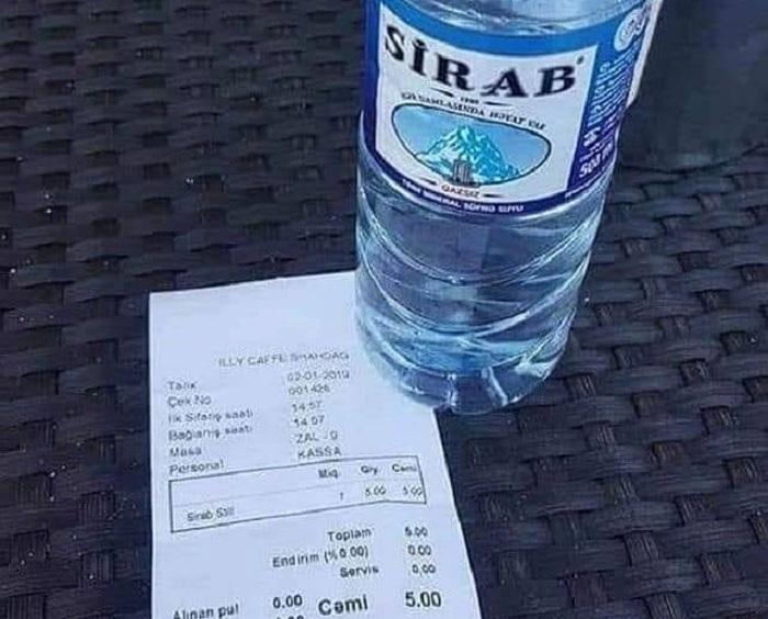 """""""Şahdağ""""da 30 qəpiklik suyun 5 manata satılması barədə AÇIQLAMA"""
