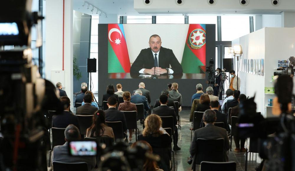 İlham Əliyevdən jurnalistin sualına sərt reaksiya: Bu, sadəcə olaraq Azərbaycanı ittiham etməkdir